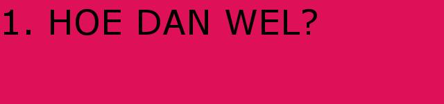 VOORSTELLING | 'HOE DAN WEL?' | 26,27,28 mei 2017
